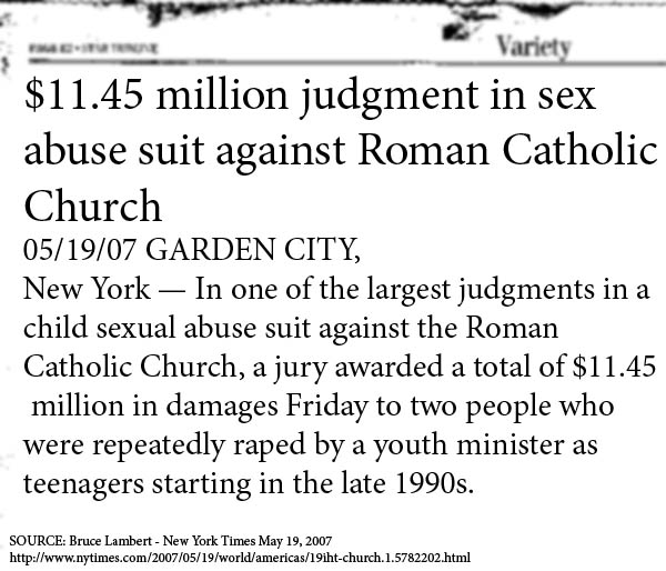 Sexual misconduct insurance claims filed churches
